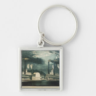 Midnight Race on the Mississippi, 1875 Keychain