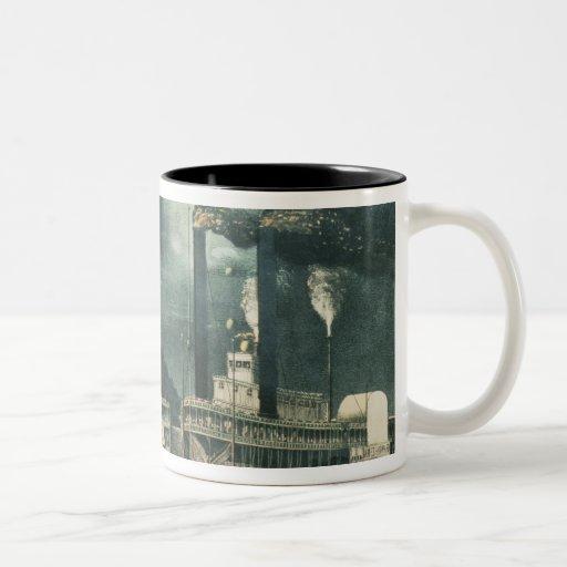 Midnight Race on the Mississippi, 1875 Mug