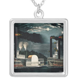 Midnight Race on the Mississippi Pendant