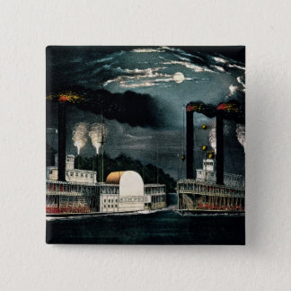 Midnight Race on the Mississippi Pinback Button