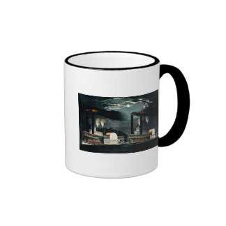 Midnight Race on the Mississippi Ringer Coffee Mug