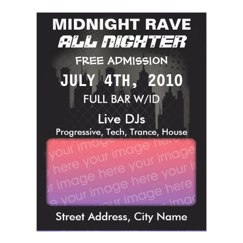 Midnight Rave Flyer flyer