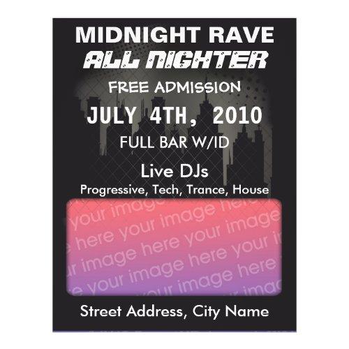 Midnight Rave Flyer flyer