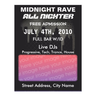 Midnight Rave Flyer
