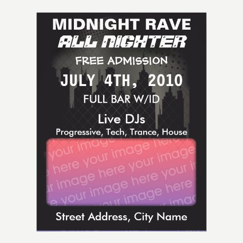 Midnight Rave Flyer
