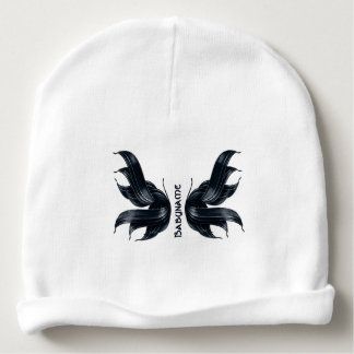 Midnight Ribbon Faery Wings Personalized Baby Beanie