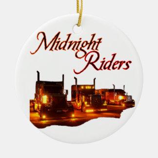 Midnight Riders Ceramic Ornament