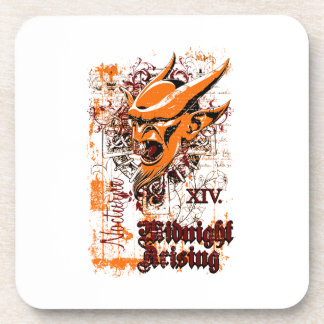 midnight rising affected design drink coasters