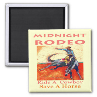 Midnight Rodeo Cowboy Magnets