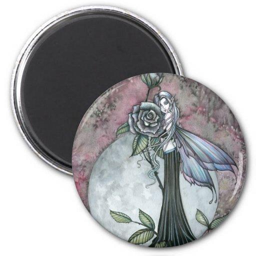 Midnight Rose Fairy Fantasy Art Molly Harrison Fridge Magnet
