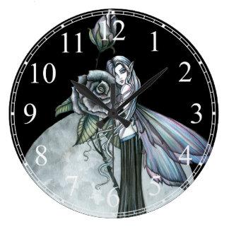 Midnight Rose Fairy Wall Clock