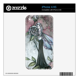 Midnight Rose Fantasy Fairy Art iPhone Skin Decal For iPhone 4S