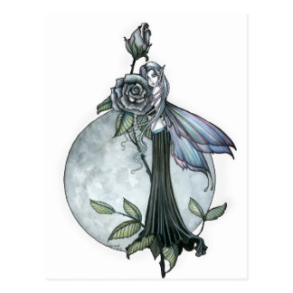 Midnight Rose Gothic Fairy Moon Postcards