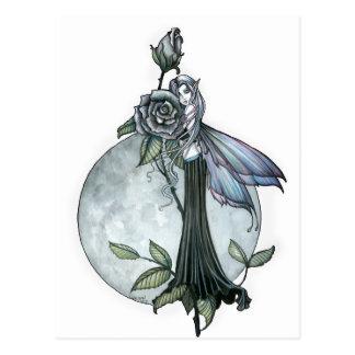 Midnight Rose Gothic Fairy Moon Postcard
