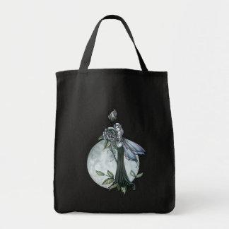 Midnight Rose Gothic Fairy Tote Bag