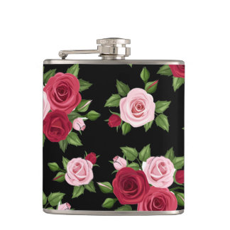 Midnight Roses Flask