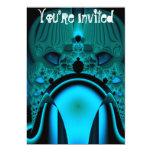 """Midnight Skullcap Fractal 5"""" X 7"""" Invitation Card"""