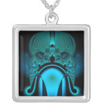 Midnight Skullcap Fractal Jewelry