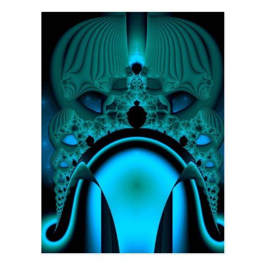 Midnight Skullcap Fractal Postcard