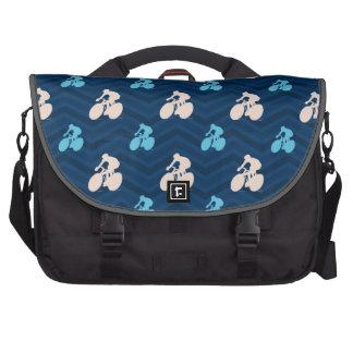 Midnight, Sky Blue, Tan, Cycling Chevron Bags For Laptop
