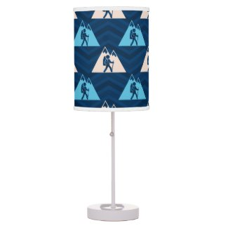 Midnight, Sky Blue, Tan, Hiking Chevron Desk Lamp