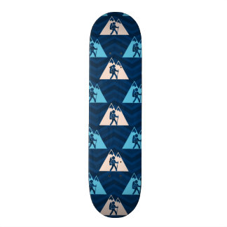Midnight, Sky Blue, Tan, Hiking Chevron Skate Board
