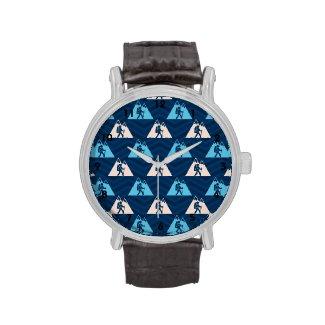 Midnight, Sky Blue, Tan, Hiking Chevron Wristwatch