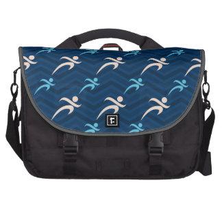 Midnight, Sky Blue, Tan, Running; Runner Laptop Bag