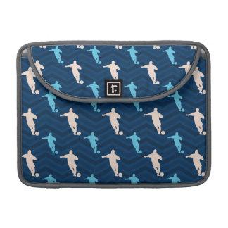 Midnight, Sky Blue, Tan, Soccer Player Chevron Sleeve For MacBooks
