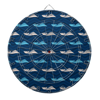 Midnight, Sky Blue, Tan, Speed Boat Chevron Dart Boards