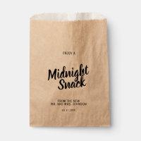 Midnight Snack Craft Paper Wedding Favor Bag