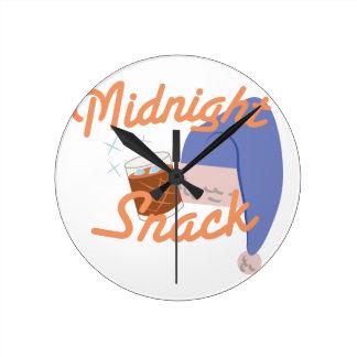 Midnight Snack Round Clock