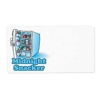 midnight snacker open fridge shipping label