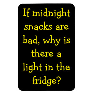 Midnight Snacks Bad? Why the Light? Rectangular Photo Magnet