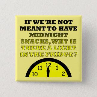 Midnight Snacks Fridge Light Funny Button Badge