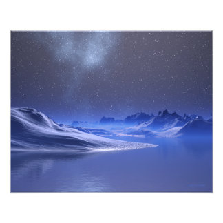 Midnight Snow Photographic Print