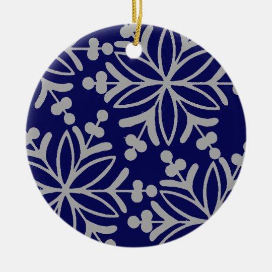 Midnight Snowflake Ornament