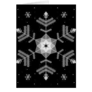 Midnight Snowflakes - Christmas greeting card