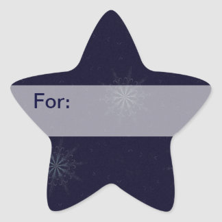 Midnight Snowflakes Gift Tag Star Sticker
