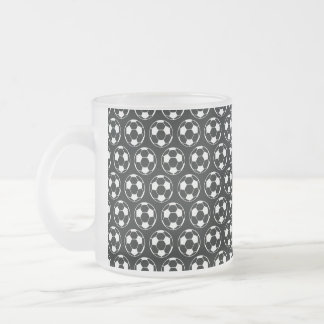 Midnight Soccer Dream Frosted Glass Coffee Mug