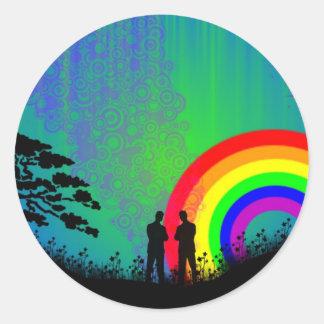 Midnight Summer Dream Classic Round Sticker