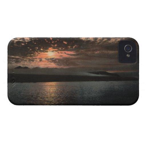 Midnight Sun at Bellsund, Svalbard, Norway iPhone 4 Covers