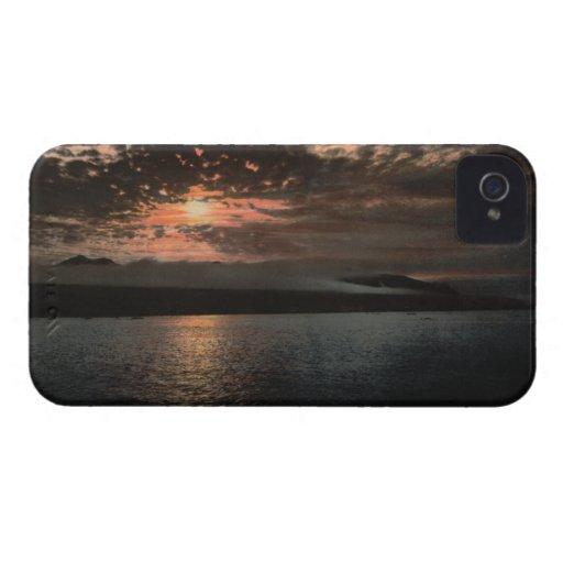 Midnight Sun at Bellsund, Svalbard, Norway Case-Mate iPhone 4 Cases