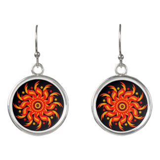 """Midnight Sun"" Drop Earrings"