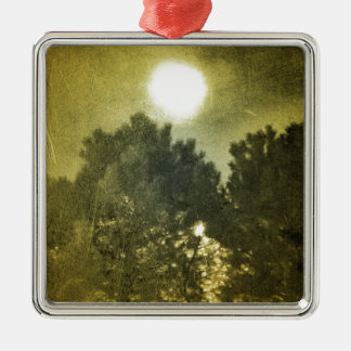 Midnight sun metal ornament