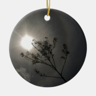 Midnight Sun Double-Sided Ceramic Round Christmas Ornament