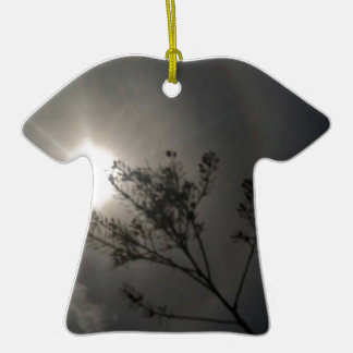 Midnight Sun Double-Sided T-Shirt Ceramic Christmas Ornament