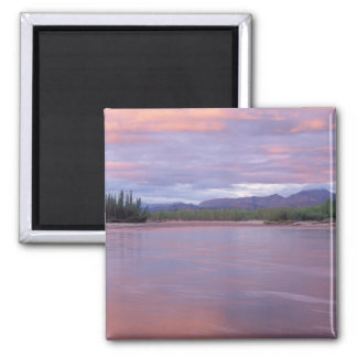 midnight sun over the MacKenzie River, off the 2 Inch Square Magnet