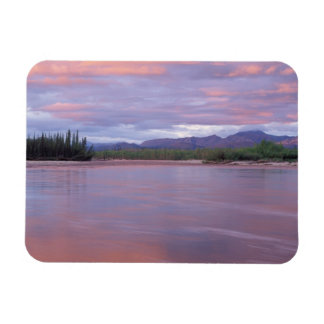 midnight sun over the MacKenzie River, off the Rectangular Photo Magnet