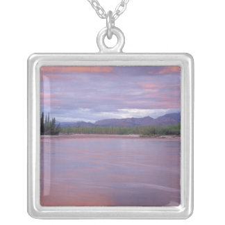 midnight sun over the MacKenzie River, off the Square Pendant Necklace